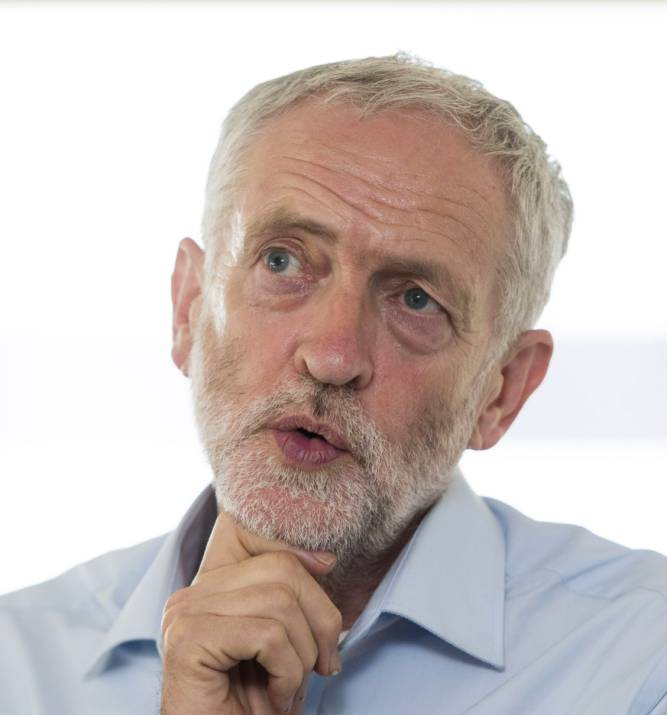 CARDIFF, WALES - AUGUST 11: Labour leadership candidate Jeremy Corbyn speaks to the press ahead of a rally at the Mercure Holland House hotel on August 11, 2015 in Cardiff, Wales. Earlier he addressed supporters at a gathering at the memorial stones to Welsh Labour hero and NHS creator Aneurin Bevan in Tredegar, Wales. (Photo by Matthew Horwood/Getty Images)