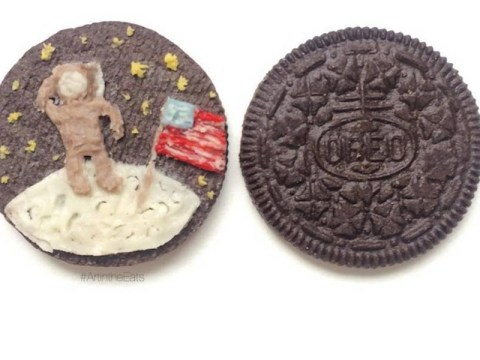 Food artist turns Oreo cookies into works of edible art
