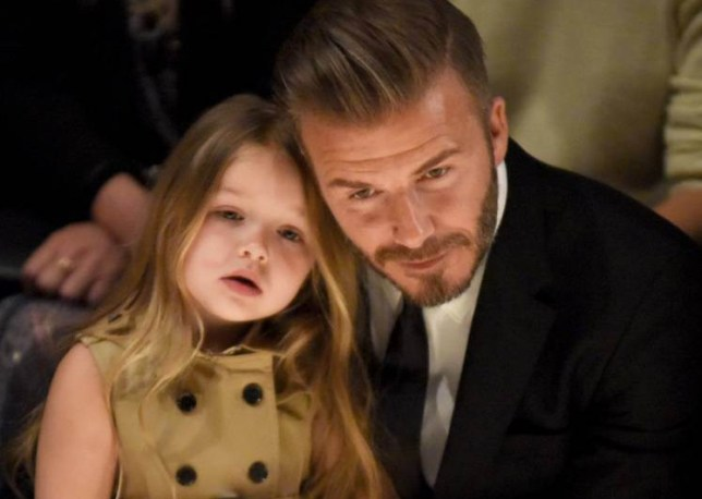 David Beckham Has New Tattoo Drawn By Daughter Harper Of