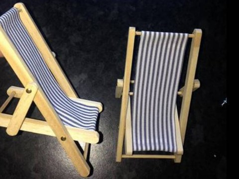 Mum's first online shopping experience did not quite go to plan when she bought these 'bargain' deckchairs