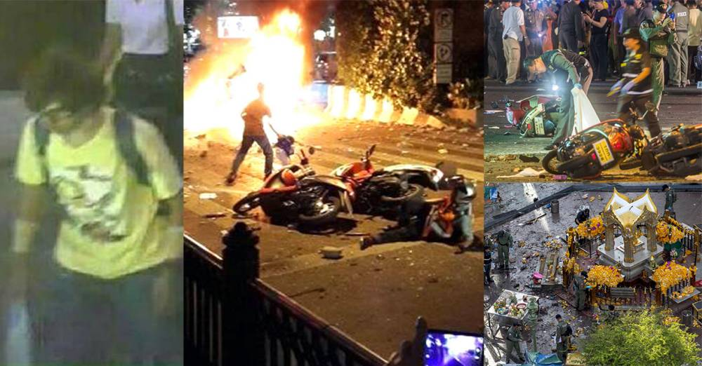 Bangkok bomb: 'Suspects' spotted in CCTV footage after explosion kills at least 20 and injures 140