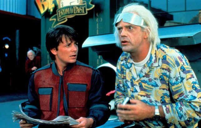 No Merchandising. Editorial Use Only. No Book Cover Usage... Mandatory Credit: Photo by Moviestore/REX Shutterstock (1536446a).. Back To The Future Part Ii (Back To The Future 2), Michael J Fox, Christopher Lloyd.. Film and Television.. ..