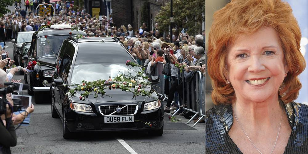 20 Aug 2015 - LIVERPOOL - UK CILLA BLACK FUNERAL AT ST MARYS CHURCH IN LIVERPOOL BYLINE MUST READ : XPOSUREPHOTOS.COM ***UK CLIENTS - PICTURES CONTAINING CHILDREN PLEASE PIXELATE FACE PRIOR TO PUBLICATION *** **UK CLIENTS MUST CALL PRIOR TO TV OR ONLINE USAGE PLEASE TELEPHONE 44 208 344 2007 **