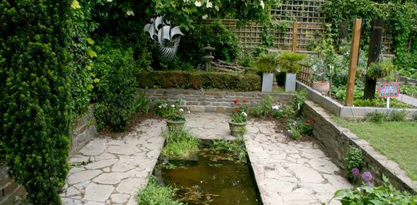 What would Petra say? This is what the original Blue Peter Garden looks like now…