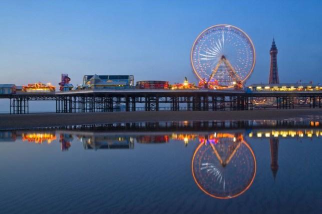 Blackpool Pier and tower illuminations