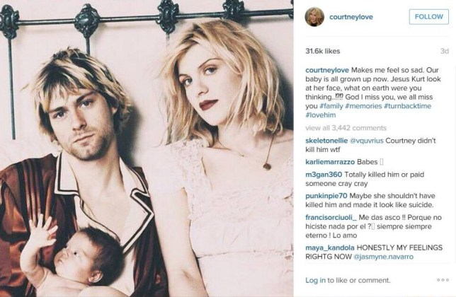Courtney Love message to Kurt Cobain https://instagram.com/p/6qa1sSNVMJ/?taken-by=courtneylove
