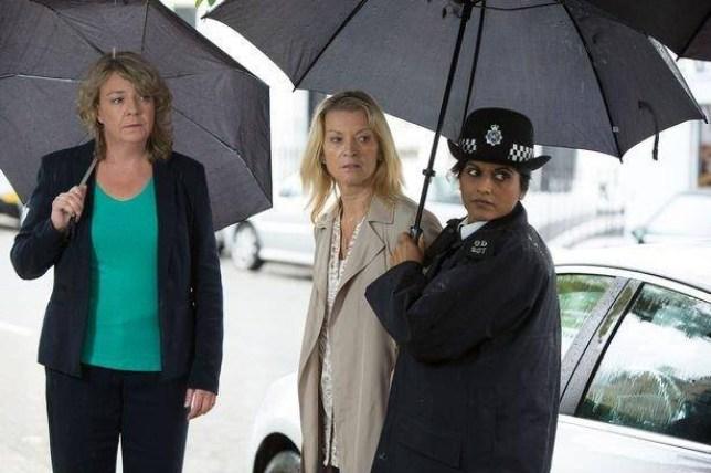 Kathy Beale arrested on EastEnders return Source: BBCDCI-Marsden-and-Kathy-Sullivan.jpg