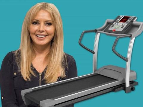Carol Vorderman fell off a treadmill whilst running naked