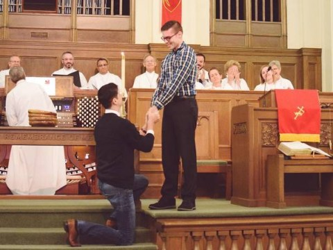 Man proposes to his boyfriend in their anti-gay marriage church, receives a standing O
