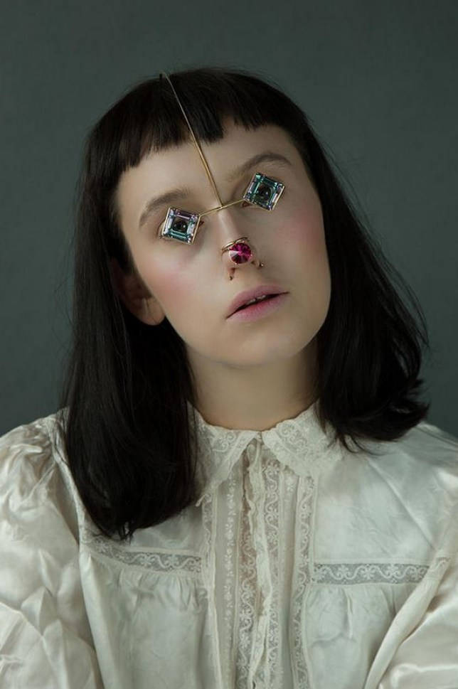 Akiko Shinzato's face jewellery is a weird take on the statement jewellery trend