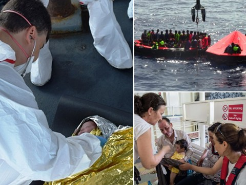 Baby rescued after boat carrying 600 migrants capsizes in the Mediterranean