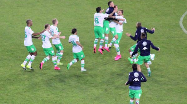 Arsenal hero Nicklas Bendtner finally lives up to Lord nickname by destroying Bayern Munich to win Wolfsburg the German Super Cup