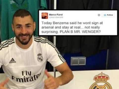 Arsenal fans react as Karim Benzema seemingly ends transfer speculation on Twitter