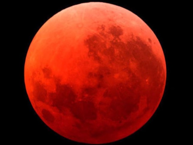 This is the fourth Blood Moon in just over a year, and apparently that's a bad thing (Picture: YouTube)
