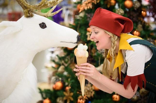 Selfridges Christmas shop BRITAIN-BUSINESS-RETAIL-CHRISTMAS