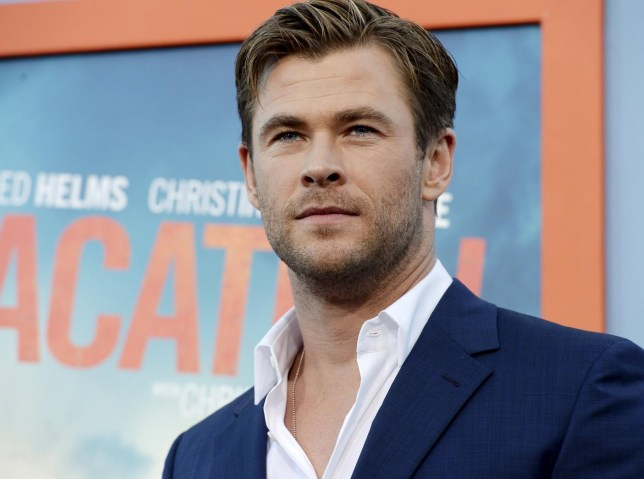 """Cast member Chris Hemsworth poses during the premiere of the film """"Vacation"""" at the Regency Village Theatre in the Westwood section of Los Angeles Kevork Djansezian/Reuters"""
