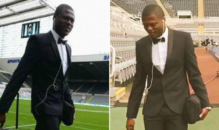 Chancel Mbemba turns up for Newcastle United debut in full tuxedo