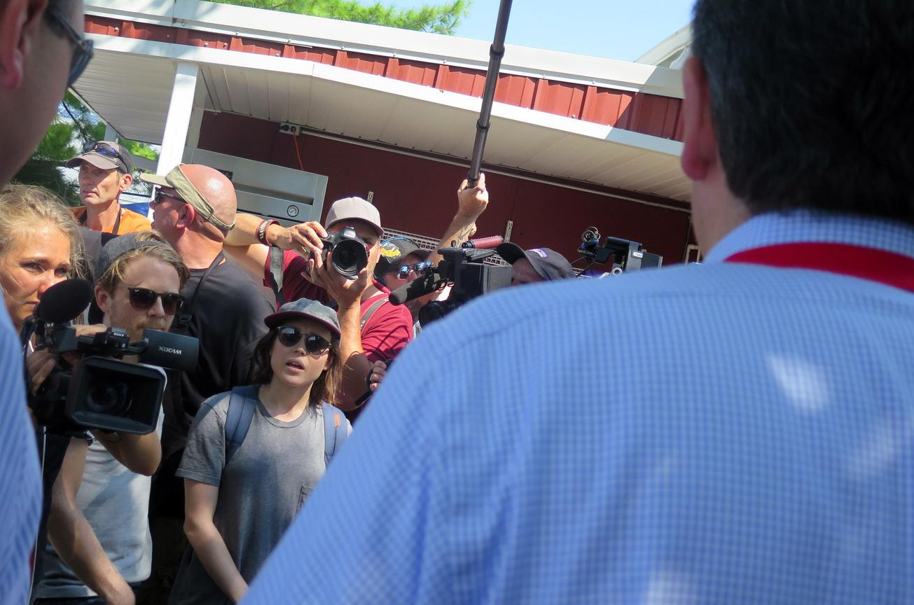 Ellen Page confronts Republican presidential nominee Ted Cruz over LGBT rights
