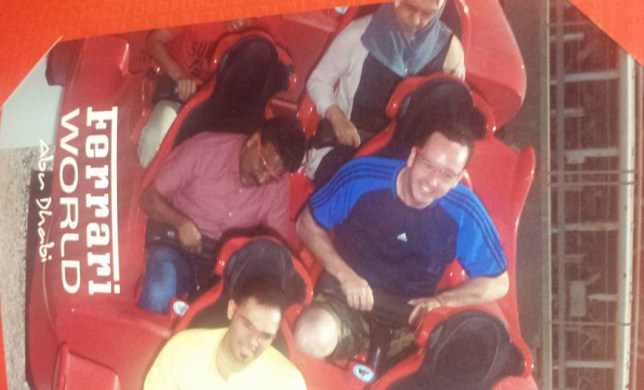 "While working over in Dubai, Cork man Liam Murphy decided to a day trip to the Ferrari World theme park in Abu Dhabi yesterday. On the way there Liam, from Bandon in Cork, struck up conversation with his Indian taxi driver Shakiha. During their chat Shakiha told Liam that he'd been working in the United Arab Emirates for 14 years, sending home money to his family in India and that he had never been inside the theme park. After hearing that the taxi driver usually waited up to four hours outside the park for his customers to come out, Liam was having none of it and decided he was going to make Shakiha's day. Liam paid 250AED (roughly €61) for an extra ticket and brought Shakiha into the attraction with him. Posting on his Facebook page, Liam added pictures of the duo's day together in Ferrari World - saying light-heartedly of Shakiha that he had ""some craic with the hoore all day."" Credit: Liam Murphy"