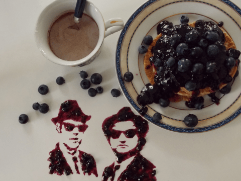 This artist creates epic food art of celebrities and film icons
