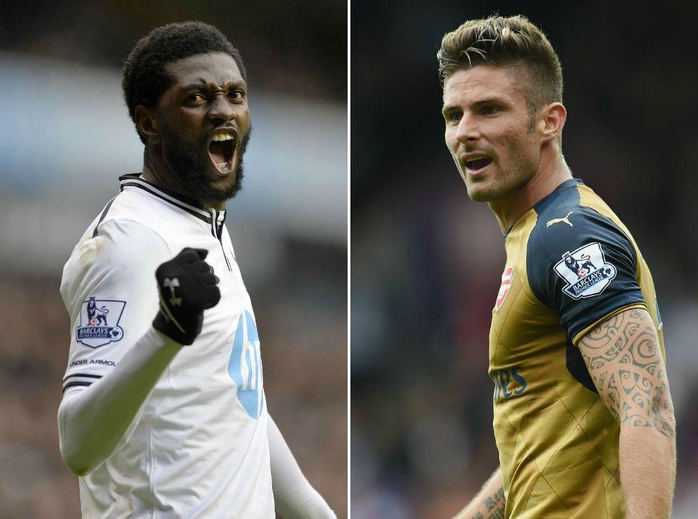 Stats show Emmanuel Adebayor has better goalscoring record for Arsenal than Olivier Giroud