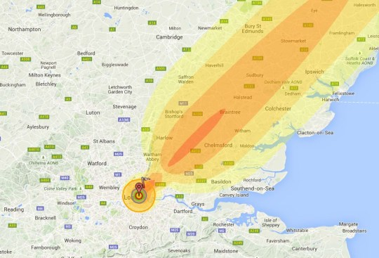 World War 3 If A Nuclear Bomb Hit London Where Would Be Safe - Us-nuke-map