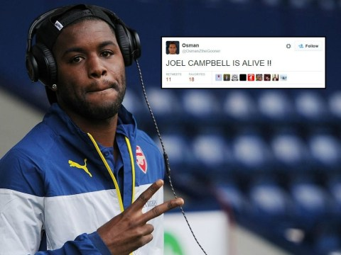 Joel Campbell named on bench for Newcastle v Arsenal, fans celebrate that he's still alive