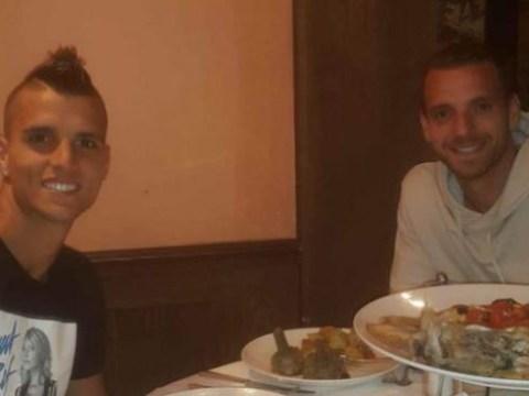 Erik Lamela says goodbye to Roberto Soldado ahead of Tottenham transfer exit