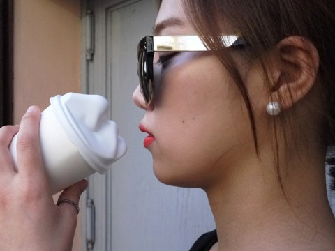 The kissable coffee cup: for people who love their coffee a little too much