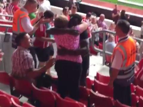 Everton's Romelu Lukaku proves he's a top bloke after hugging Southampton fan he hit in the face