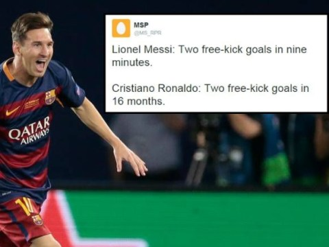 Stats show Barcelona's Lionel Messi is now better than Cristiano Ronaldo at free-kicks