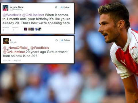 Arsenal fans show West Ham loss has finished them off by debating Olivier Giroud's age on Twitter