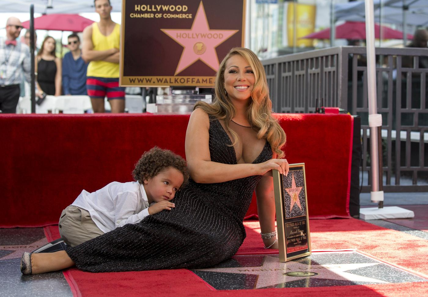 WATCH: No one shares the spotlight with Mariah Carey – not even her son Moroccan