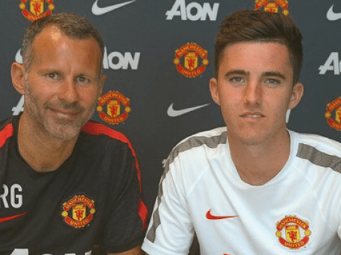 Promising Manchester United youngster Sean Goss puts pen to paper on new contract
