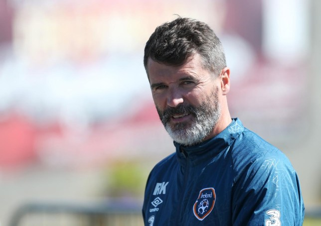 SOC: Ireland assistant manager Roy Keane during training Matthew Childs/Reuters