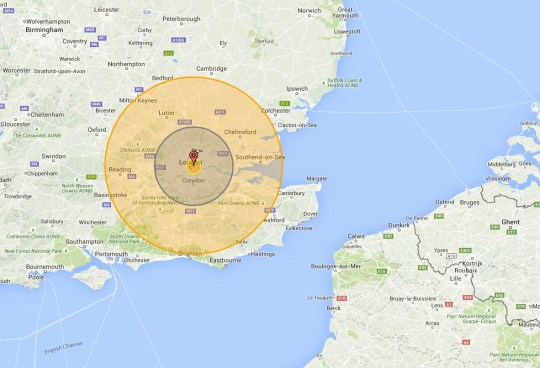 Map Of Uk Nuclear Bunkers.World War 3 If A Nuclear Bomb Hit London Where Would Be Safe