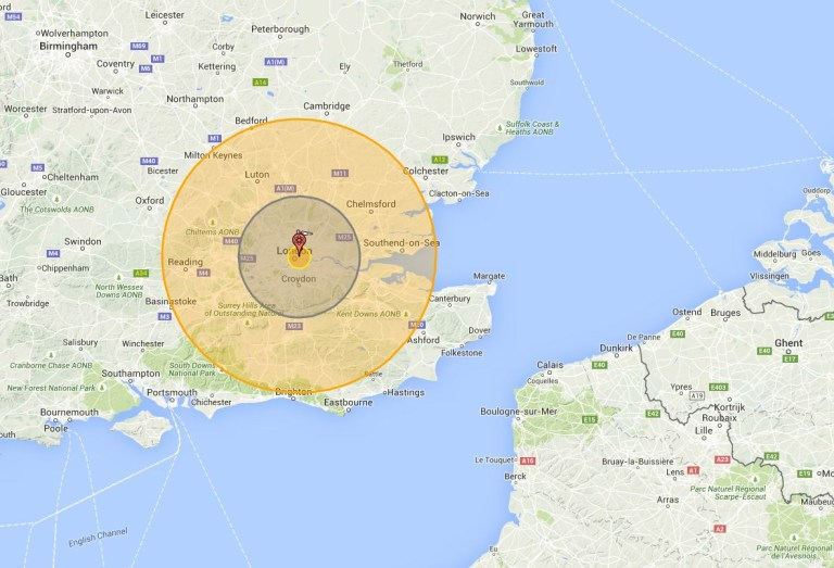 Nuke Map See What A Nuclear Bomb Would Do To Your Home Town Metro - Us-nuke-map