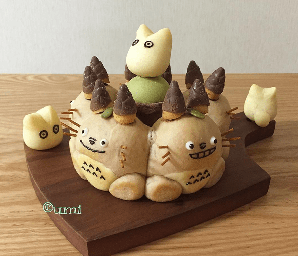 3d character bread art by japanese baker umi