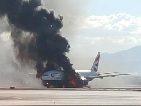 Passengers on BA jet that caught fire on runway sue Boeing and GE Aviation
