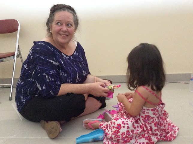 Lindsay Sandiford with her granddaughter, Ayla in Kerobokan Prison, Bali, Indonesia, 11 September 2015. ..***MAIL ON SUNDAY USE ONLY - NO SYNDICATION - DO NOT LIBRARY***
