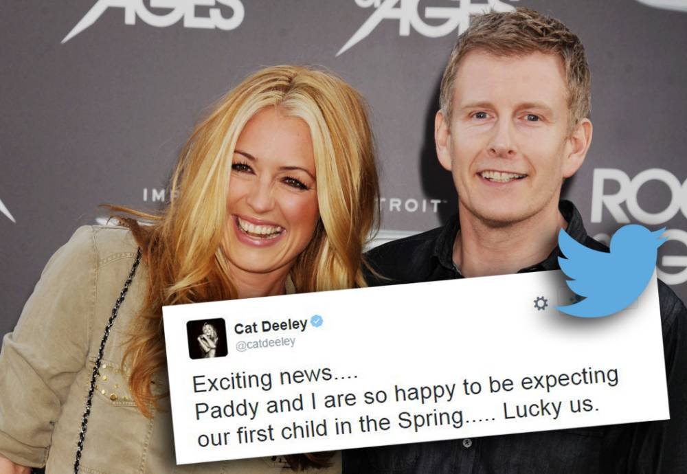 'Lucky us!' Cat Deeley and Patrick Kielty announce they are expecting their 'first child in the Spring'
