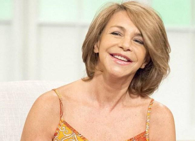 Leslie Ash appears on the Lorraine show