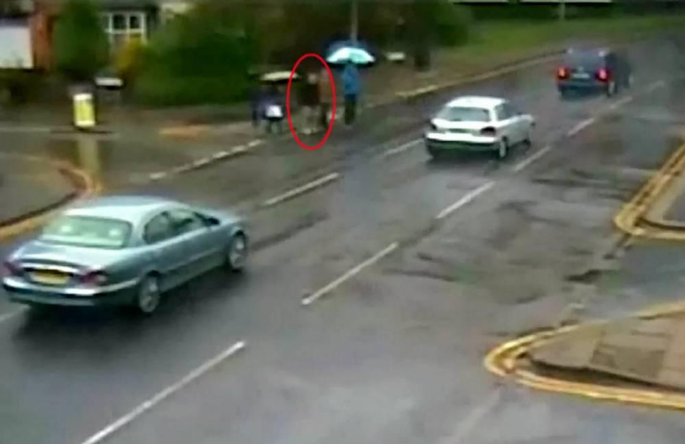 """CCTV still capturing John Downes about to cross the road before being hit by the car being driven by Gurpreet Sandhu. A Poundland employee who knocked down an RAF veteran as he rushed to work at 56mph in a 30mph zone has been jailed for three years. See NTI story NTISPEED. Gurpreet Sandhu, 27, was late for his shift and listening to loud music when he ploughed his Honda Civic into tragic 91-year-old John Downes.The pensioner was walking to a bookmakers to place his daily bet when he was hit in Sutton Coldfield town centre at 10.30am on November 8 last year. A court heard Mr Downes was rushed to Heartlands Hospital with a number of injuries including a bleed to the brain and three fractured ribs. He made a """"surprising"""" recovery and fought off a liver and kidney infection before being discharged in December. But tragically the pensioner's condition deteriorated and he died three months after the smash on February 16 this year. Sandhu, of Handsworth, Birmingham, admitted causing serious injury by dangerous driving at an earlier hearing. He was jailed for three years and banned from driving for seven years when he was sentenced at Birmingham Crown Court on Monday (7/8)."""