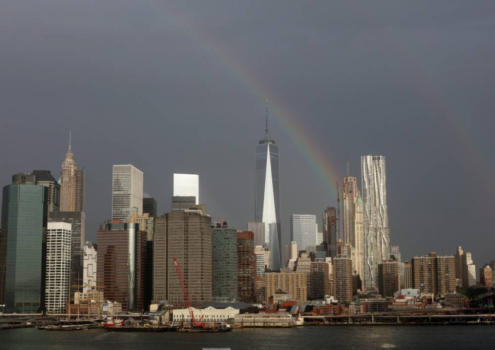'Magical' rainbow appears from One World Trade Center