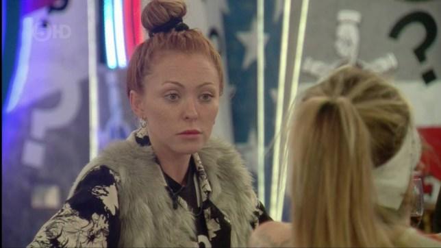 Natasha Hamilton on 'Celebrity Big Brother'.