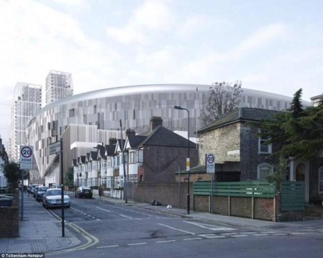 Tottenham hotspur stadium designs north south.