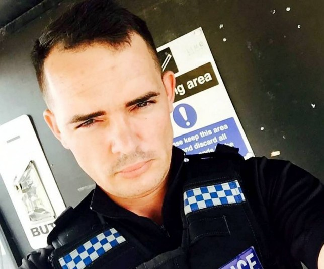 Robert at the time of acting as a policeman in TV soap Hollyoaks. A Hollyoaks actor was left blind in one eye after he caught a horrific infection - from a GREENFLY. See SWNS story SWFLY. Robert Doherty, 31, regularly plays a policeman in the TV soap and was filming a scene outside the station when he felt a tiny fly buzz into his eye. He thought nothing of it and wiped it away, but within hours his eye had become red and he went to bed that night with a pounding headache. When the extra woke up the next day he was completely blind in one eye and worried medics revealed the tiny creature had scratched his cornea and left behind a bacteria. Despite months of daily hospital appointments, medics were unable to save his sight and even told the actor to prepare to have his right eye REMOVED. But thankfully after seven months of partial-blindness, relieved Robert underwent a corneal transplant and his sight slowly returned.