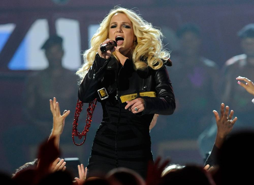 Singer Britney Spears performs during the 2011 Billboard Music Awards at the MGM Grand Garden Arena May 22, 2011 in Las Vegas, Nevada. (Photo by Ethan Miller/Getty Images for ABC) LAS VEGAS, NV - MAY 22 2011