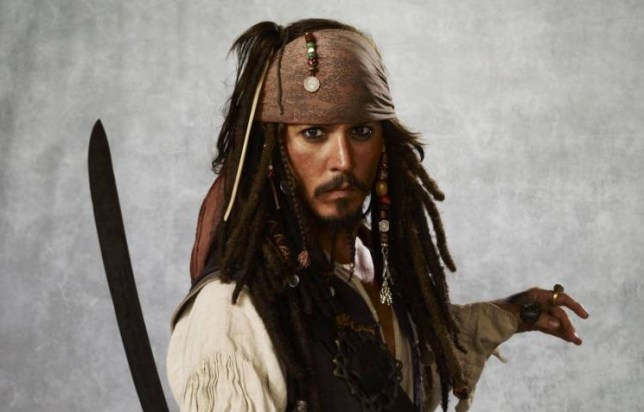 Film: the Pirates of the Caribbean with Johnny Depp as Captian Jack Sparrow.