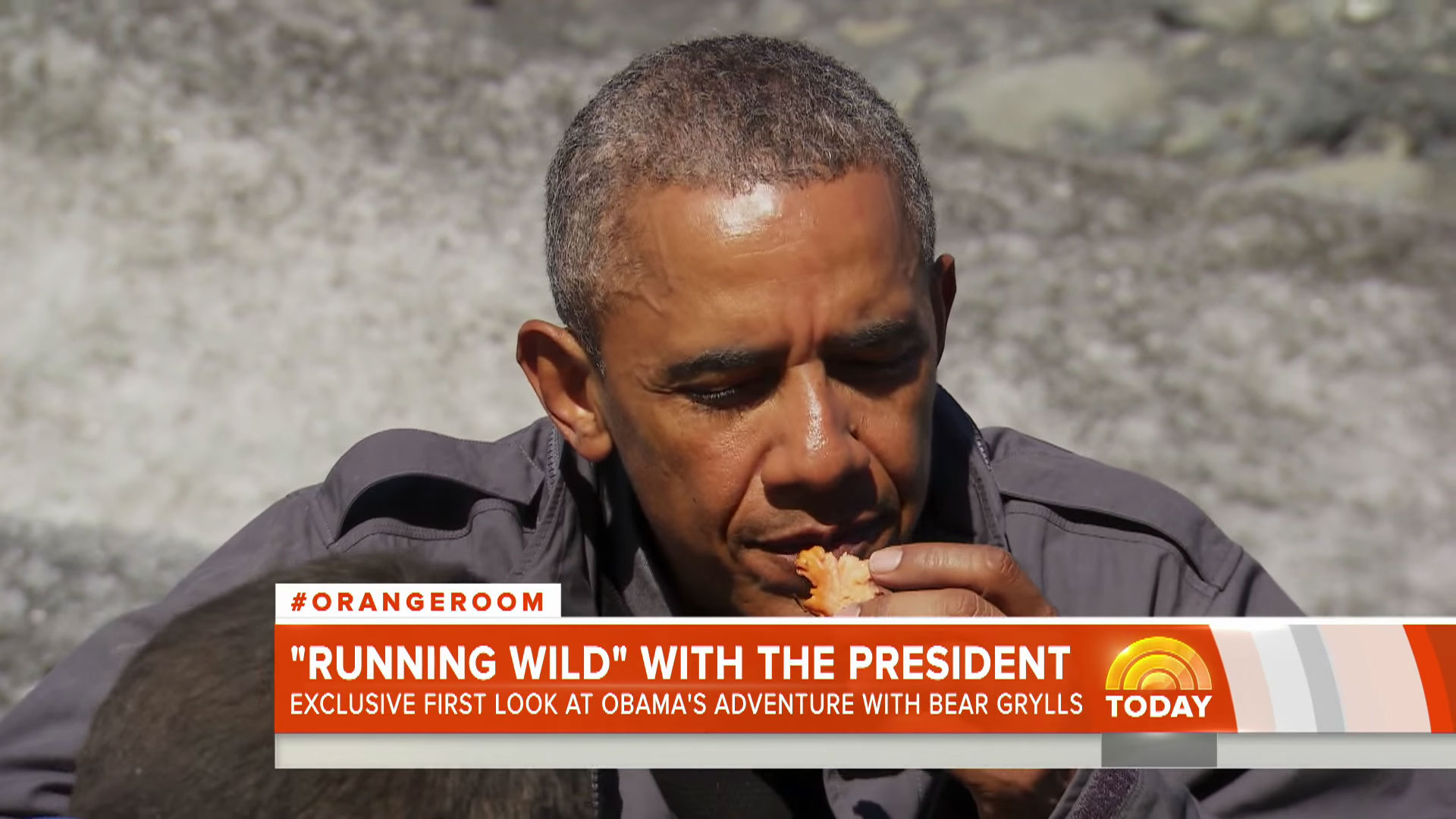 See Barack Obama react badly to Bear Grylls' culinary skills in Running Wild clip